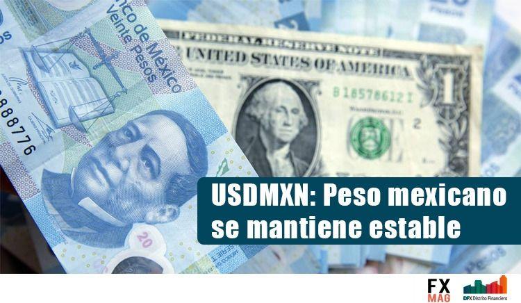 El cambio Dólar Estadounidense Peso Mexicano (USDMXN) se mantiene estable